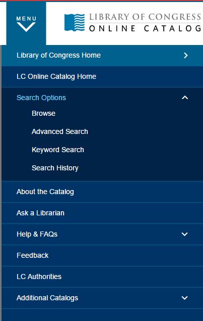 LC联机目录菜单